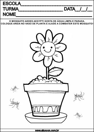 atividades aedes aegypti mosquito da dengue zika e chikungunya