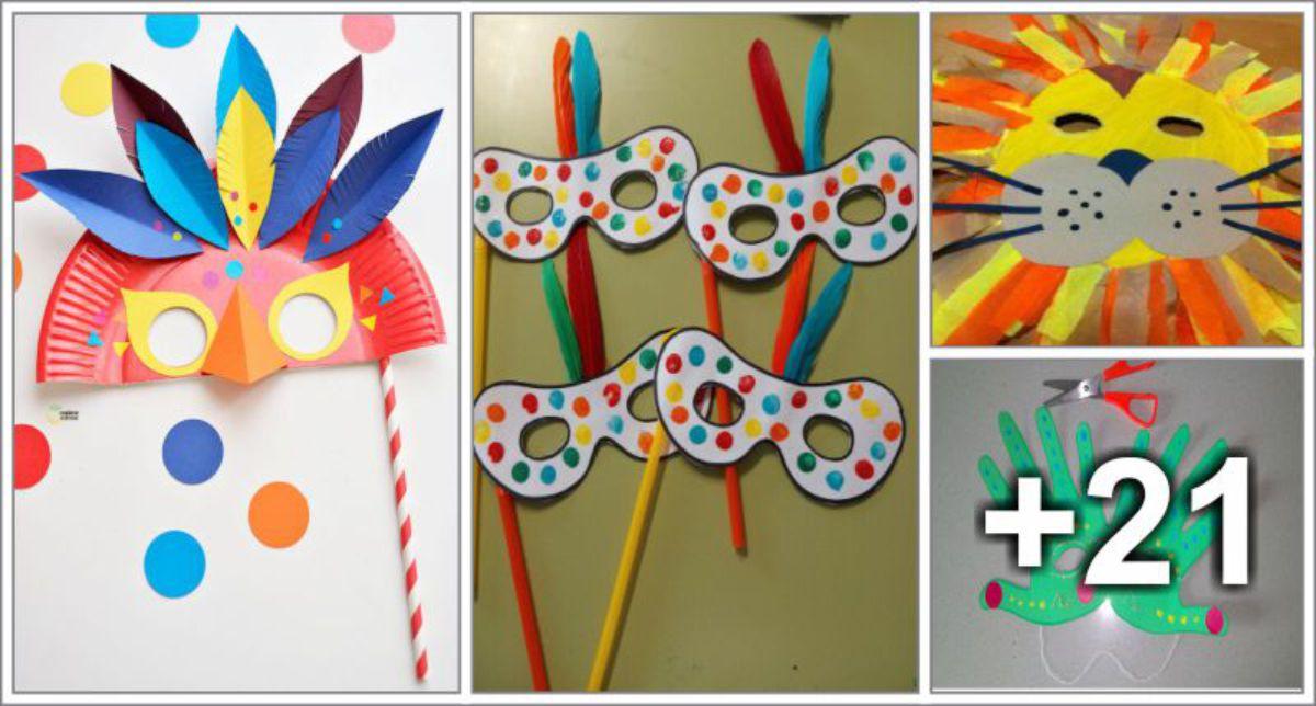 25 Mascaras de Carnaval para crianças