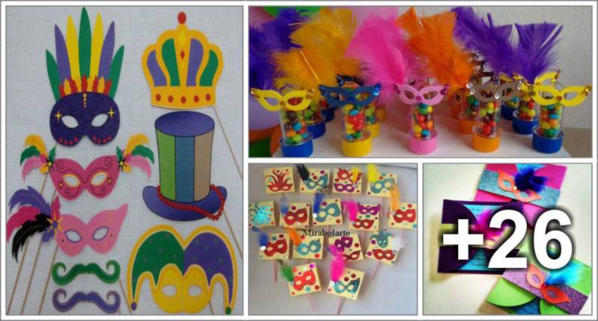 30 Lembrancinhas de Carnaval para educação infantil e fundamental