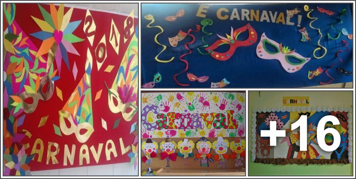 20 Ideias de Painéis de Carnaval para sala de aula