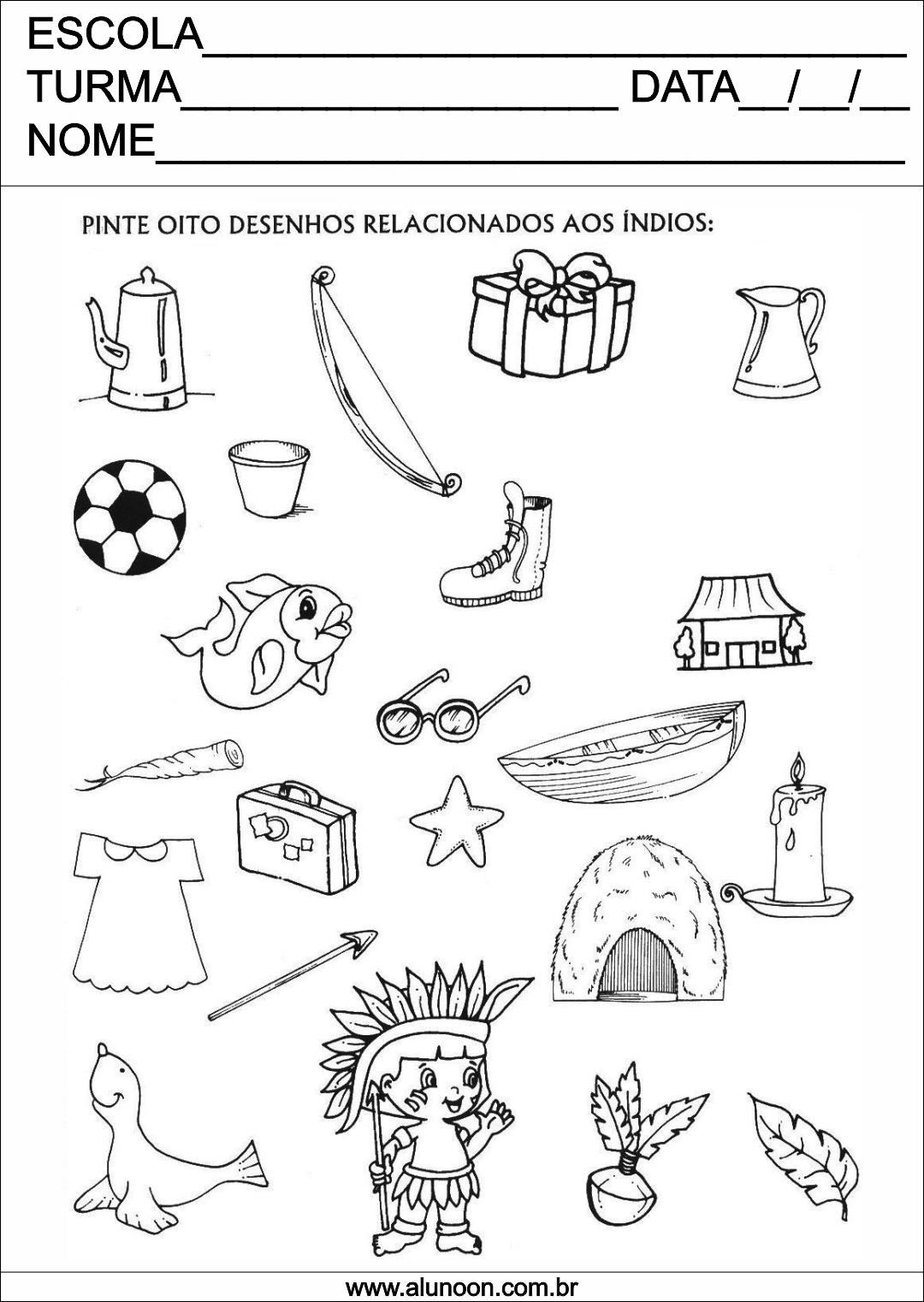 Top Desenho para colorir Dia do índio - educação infantil - Aluno On IQ86
