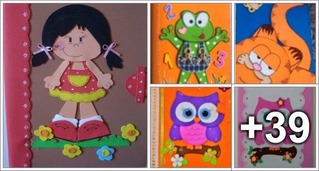Molds For Eva Notebook Cover Preschool Aluno On