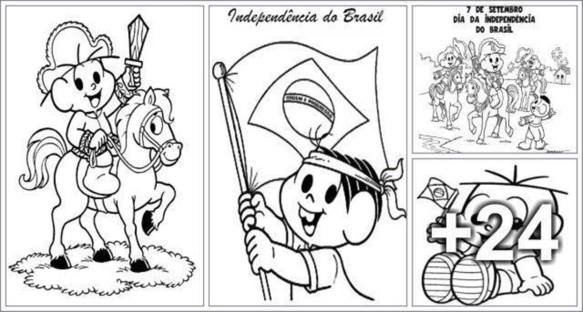 28 Desenhos para Colorir - Independência do Brasil