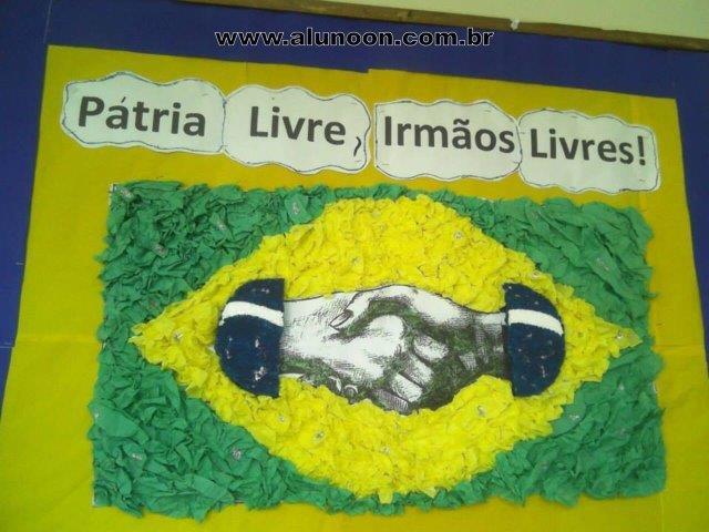 40 atividades para o dia da independ ncia do brasil 7 de for Mural 7 de setembro