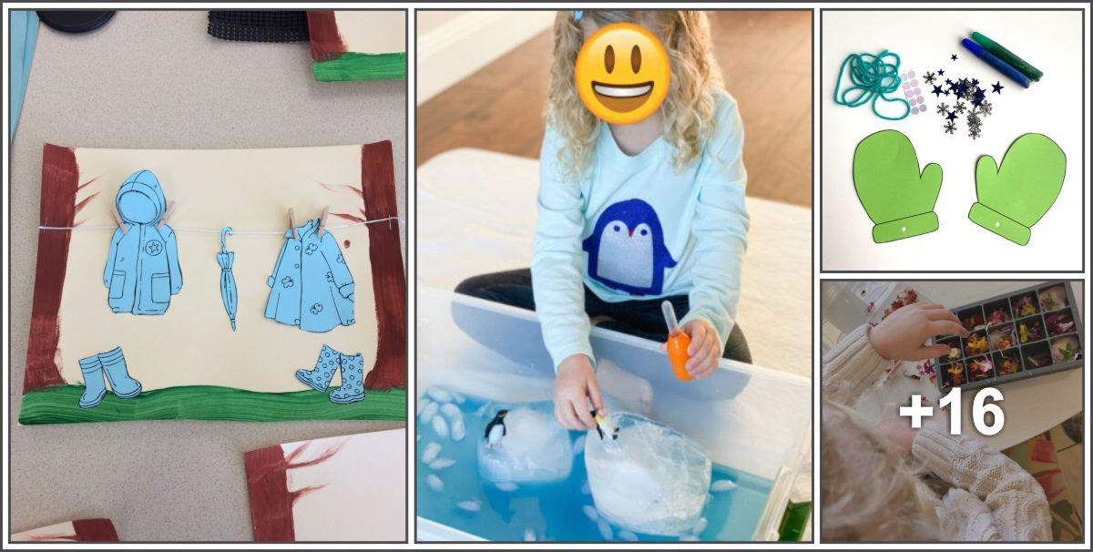Diversas atividades de inverno para crianças