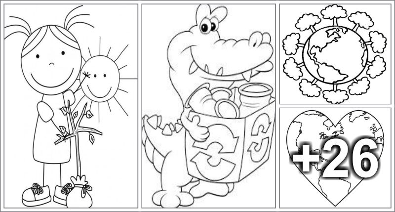 30 Earth Day Printable Coloring Pages