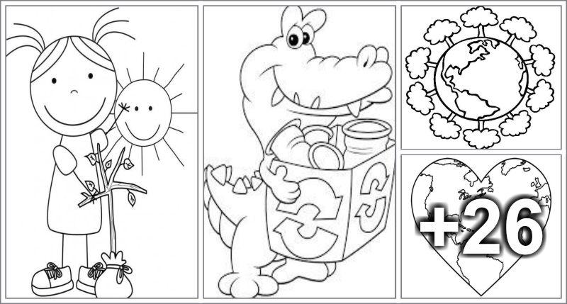 30 Dibujos para el Día de la Tierra - Educaciín Preescolar - Alumno On