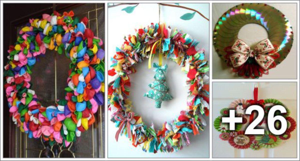 30 Ideias de guirlandas de materiais reciclados para o Natal