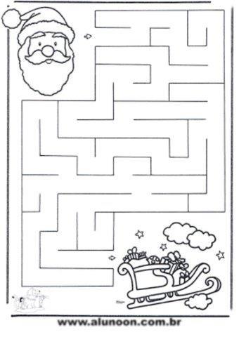 12 labirintos de natal para imprimir aluno on