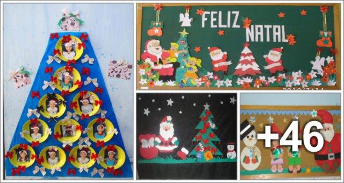 50 ideias de murais para o Natal