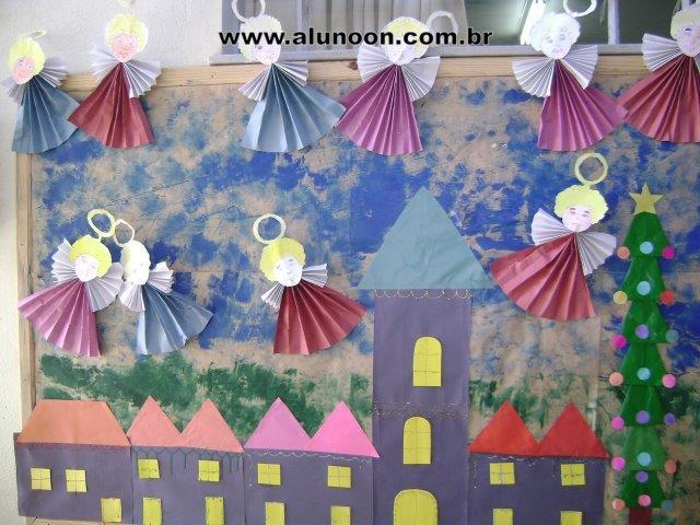 50 ideias de murais para o natal aluno on for Mural sobre o natal