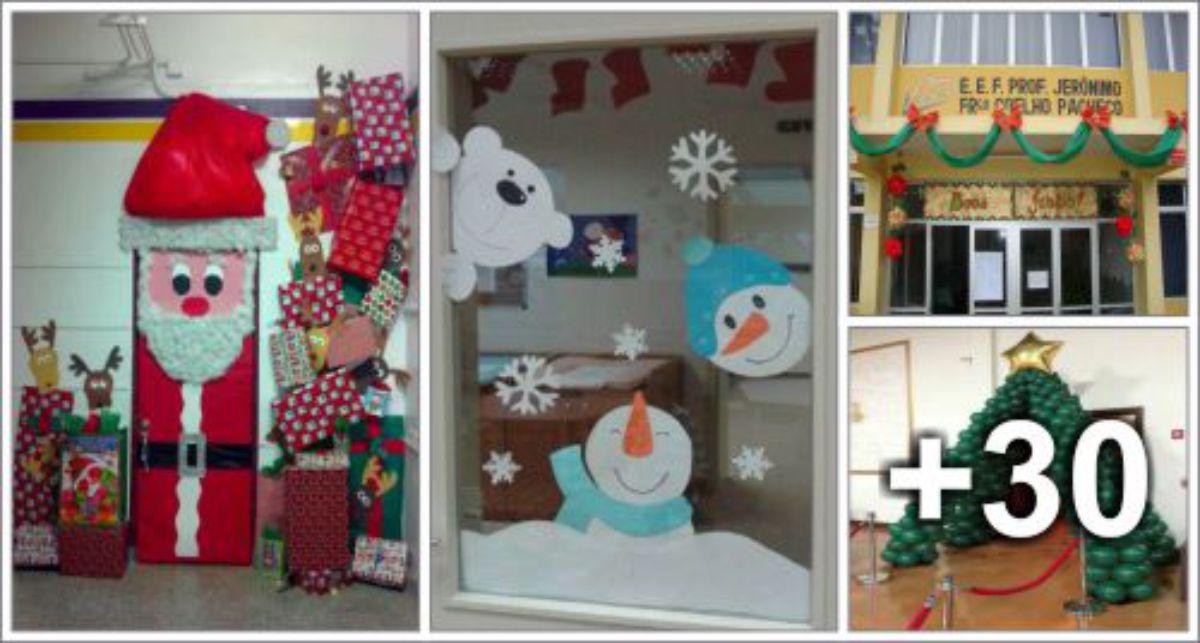 34 Ideias de decorações de Natal para escola
