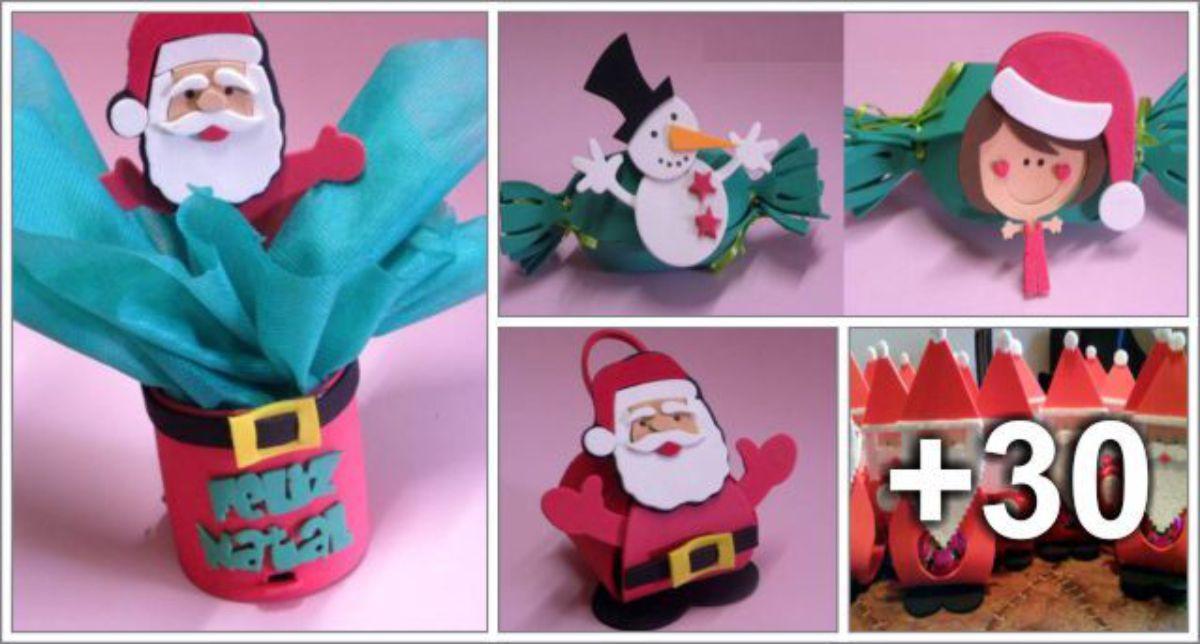 34 Ideias com EVA para o Natal - Com moldes