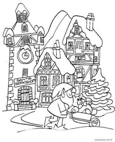 37 Desenhos Do Papai Noel Para Colorir Aluno On