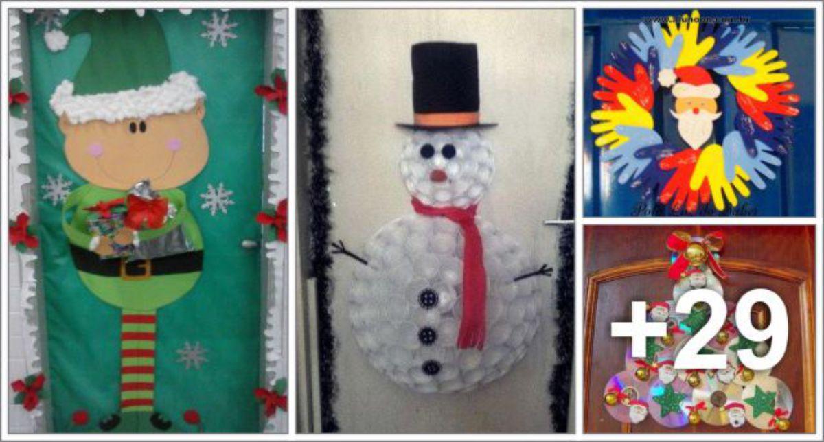 33 Ideias de portas decoradas para o Natal