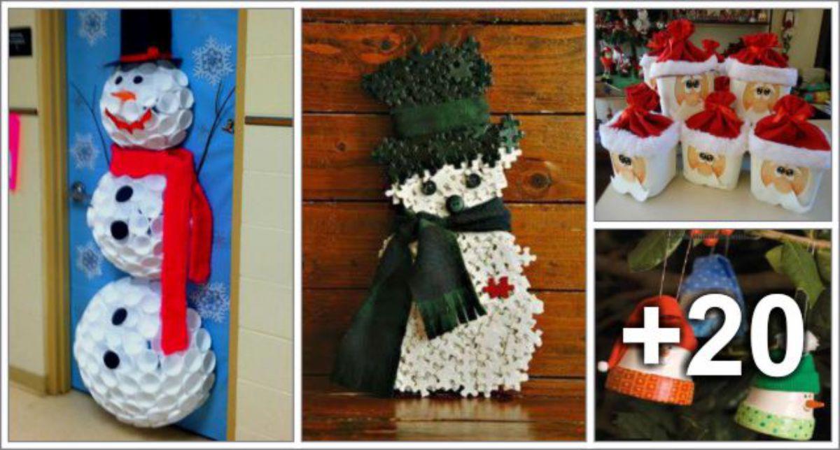 24 Ideias de Natal com Recicláveis