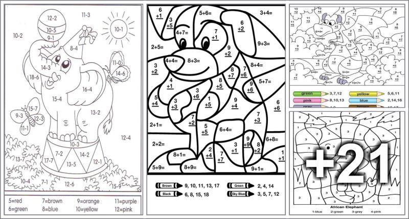 25 Dibujos para colorear por medio de sumas - Educaciín Preescolar ...