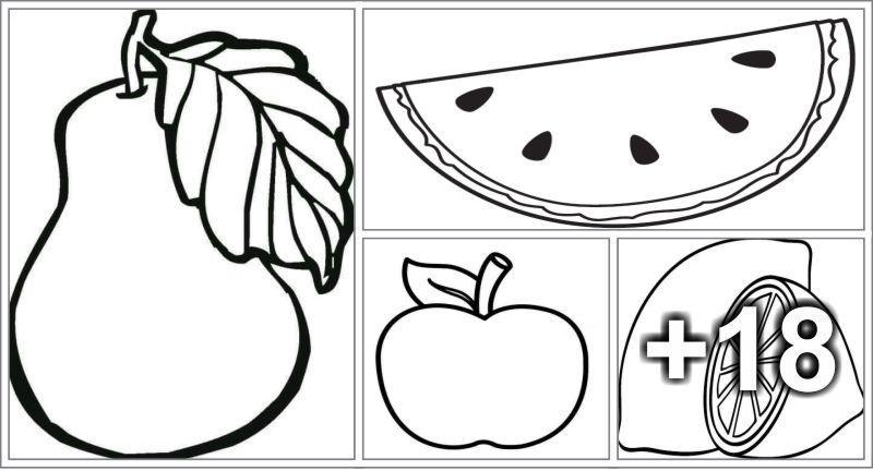 22 Dibujos de frutas para colorear e imprimir - Educaciín Preescolar ...