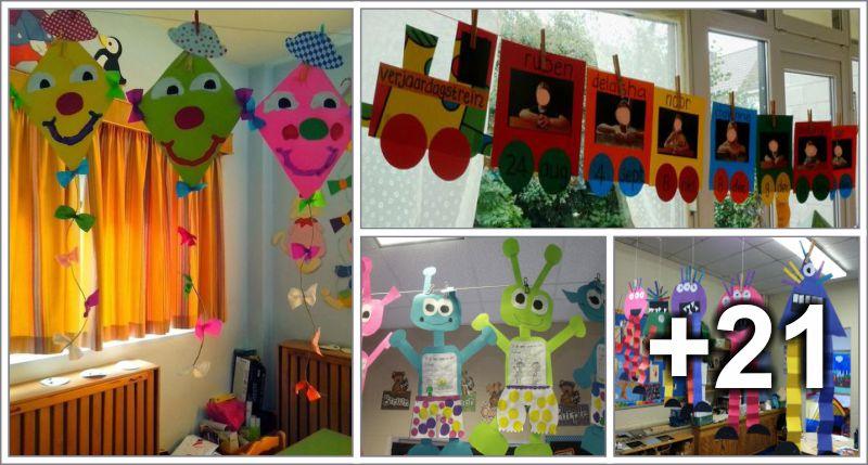 25 Hanging decoration ideas for school - Preschool - Aluno On