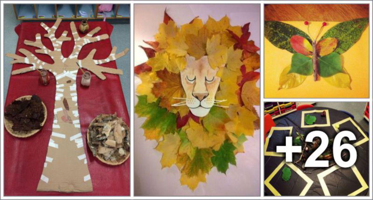 30 Ideias de artes com folhas de árvore