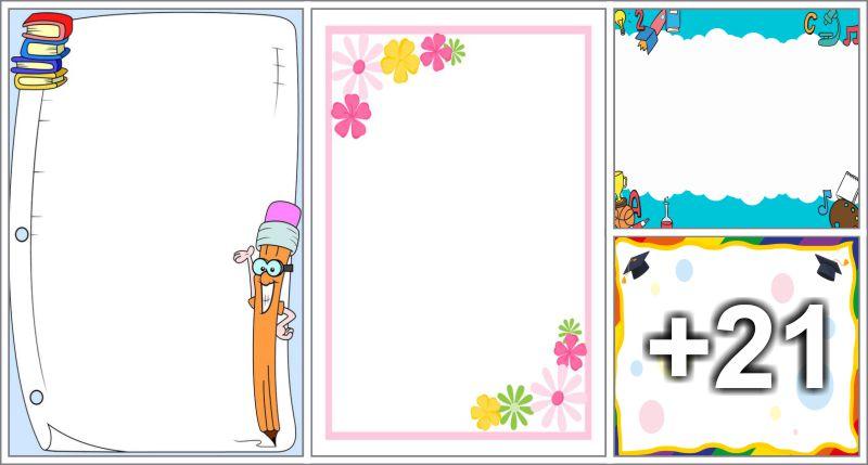 25 free printable borders and frames preschool aluno on 25 free printable borders and frames altavistaventures Choice Image