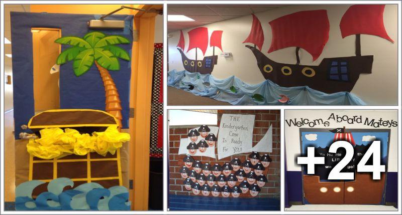 28 decorações de piratas para sala de aula