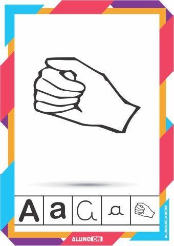 Alfabeto Em Libras Letra De Forma E Cursiva Para Imprimir