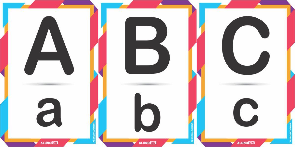 Alfabeto em letra de forma para imprimir