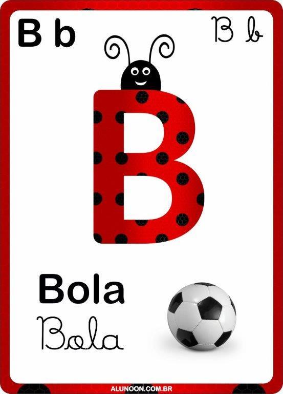 Alfabeto Joaninha Para Imprimir Educacao Infantil Aluno On