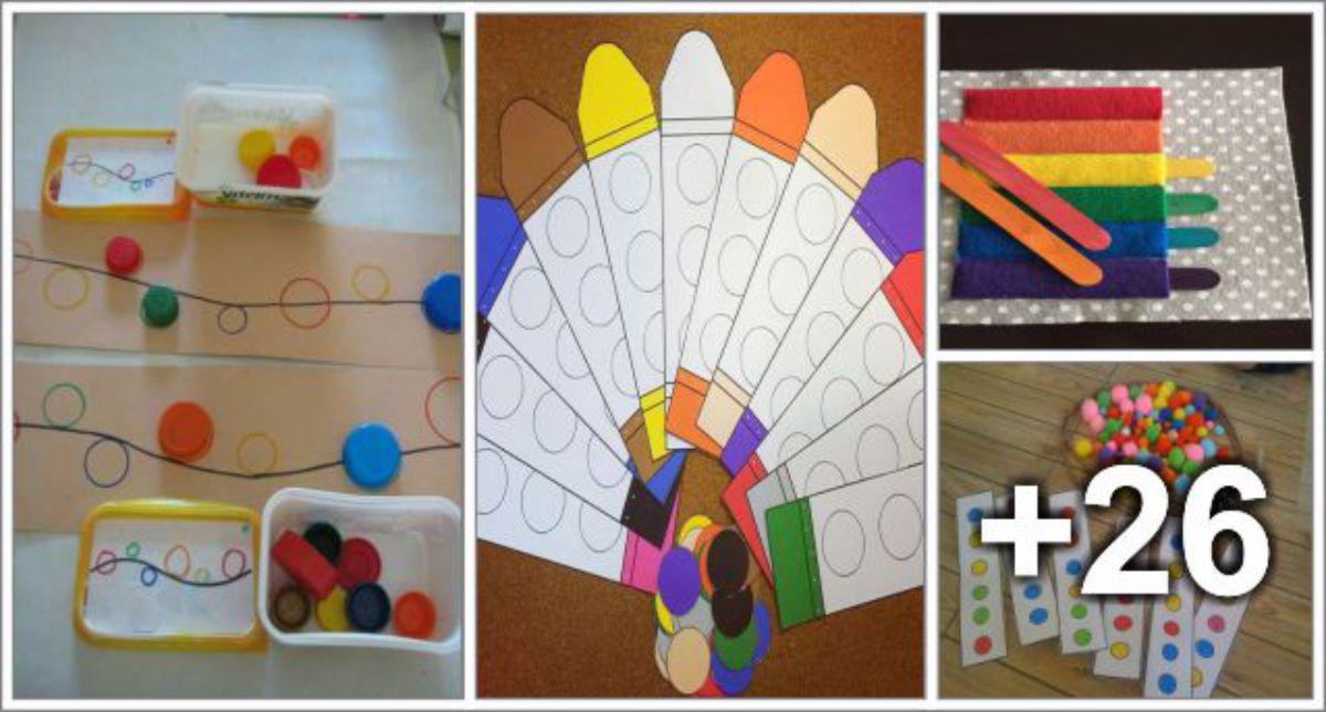 30 Atividades para ensinar as cores