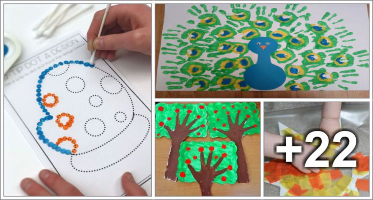 30 Ideias de artes para crianças