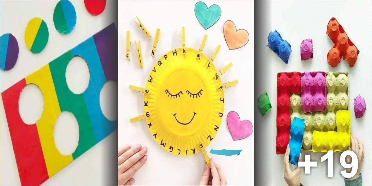 22 Atividades sobre cores, padrões, alfabeto e lógica para crianças