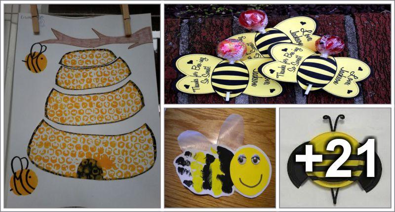 25 Manualidades de artes com o tema abelhas