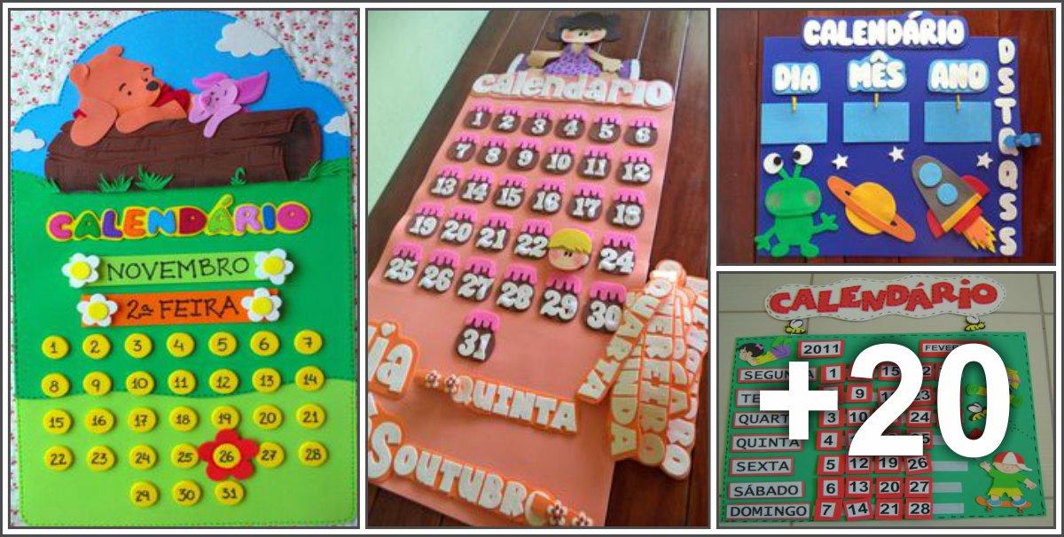 24 Modelos de calendários para sala de aula