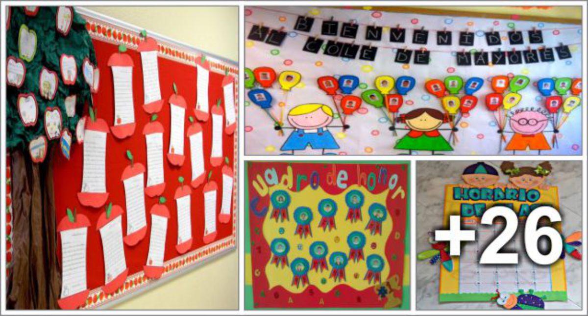 30 ideas de decoraci n para aula horarios de clase for Murales para salones decoracion