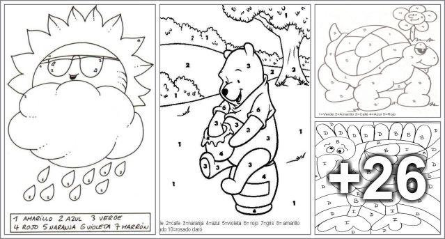 30 Dibujos para colorear la zona indicada - Educaciín Preescolar ...
