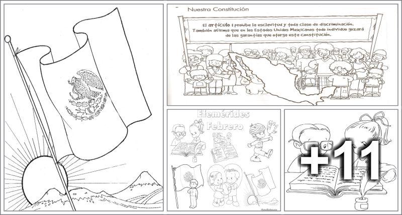 15 Dibujos para colorear Día de la Constitución Mexicana - Educaciín ...