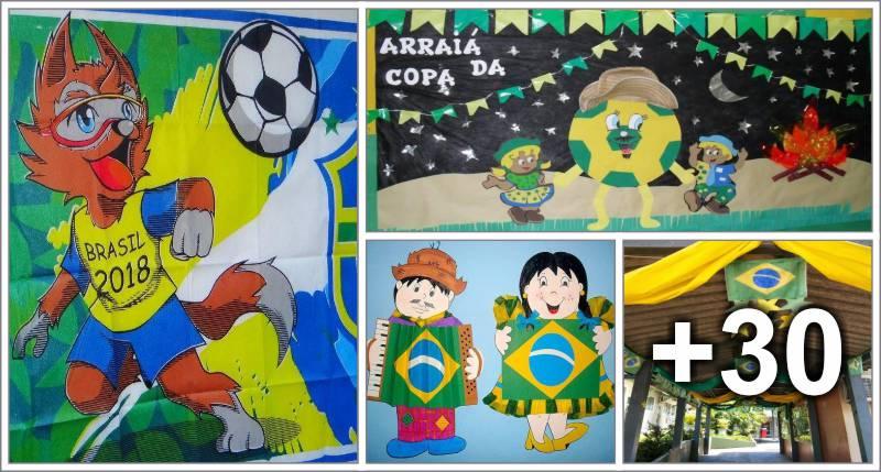 34 Ideias de Painéis e decorações para Copa do mundo