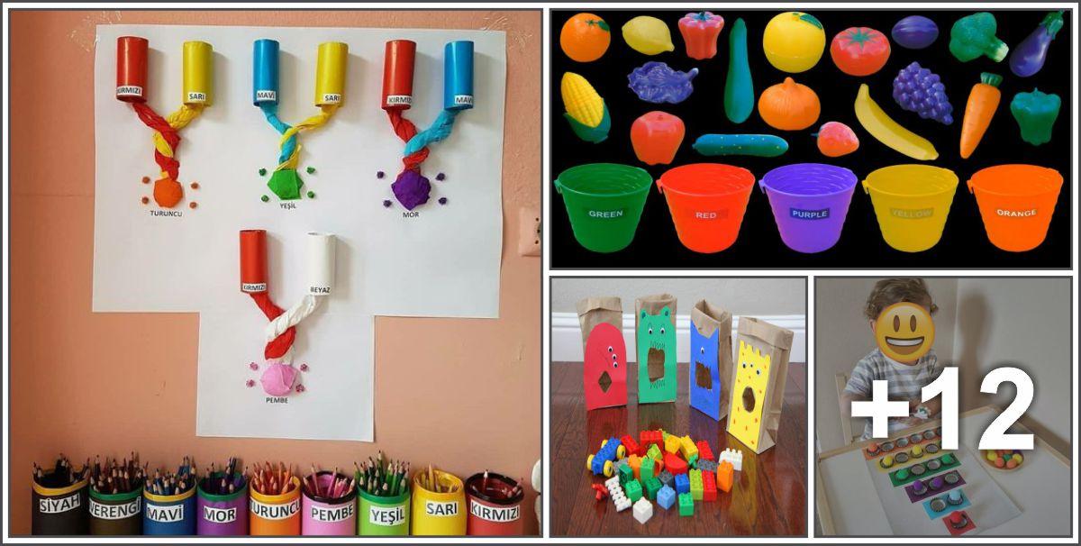 16 Ideias para ensinar as cores para crianças