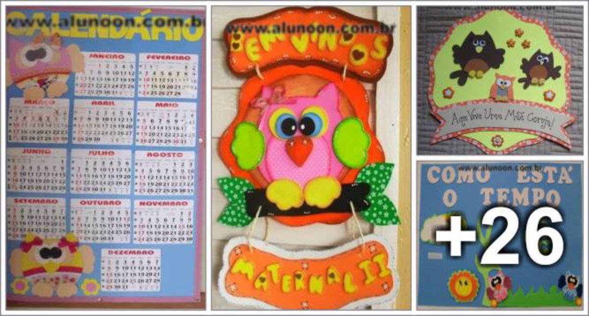 30 Ideias com Corujas para decoração de Sala de aula