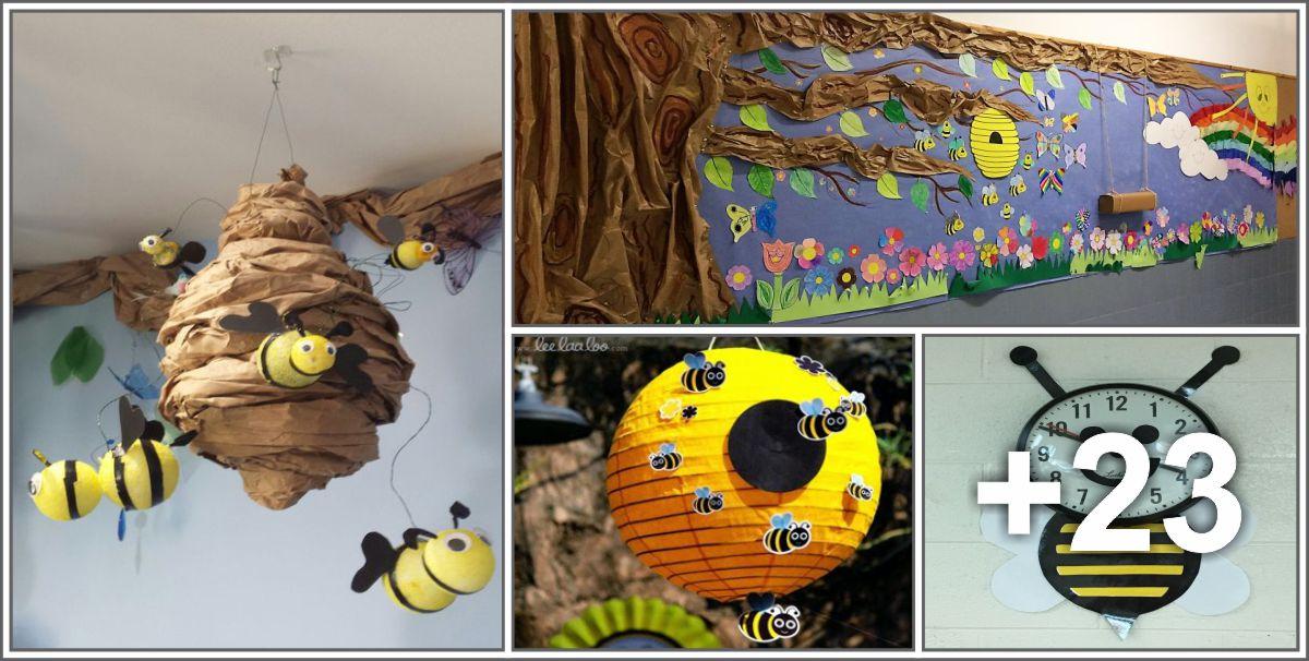 27 Ideias de decoração para sala de aula com o tema abelhas