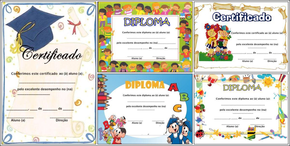 17 Modelos de diplomas e certificados para educação infantil