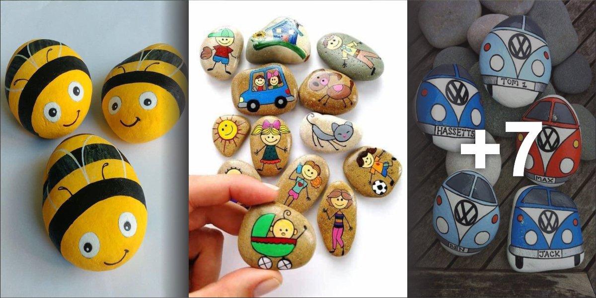 Ideias de desenhos em pedras para crianças