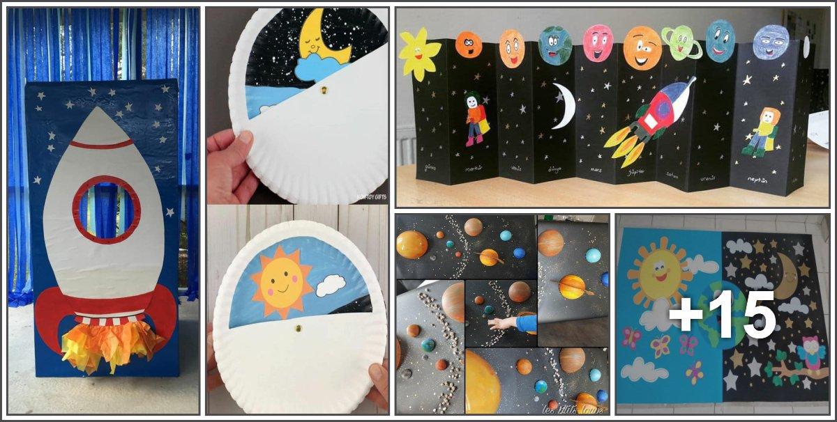 20 Ideias e atividades sobre o dia e noite, sistema solar, terra e espaço para diversas idades