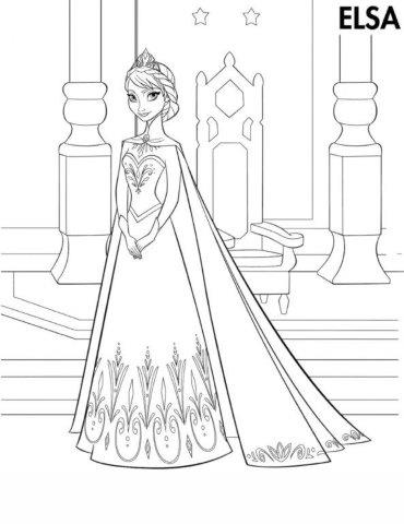 Frozen Coloring Pages Aluno On