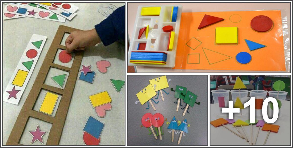 14 Atividades com figuras geométricas para crianças