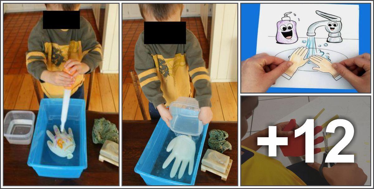 16 Ideias, manualidades e painéis sobre higienização das mãos