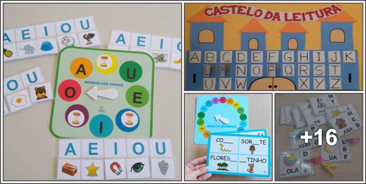 Ideias lúdicas para Alfabetização de crianças