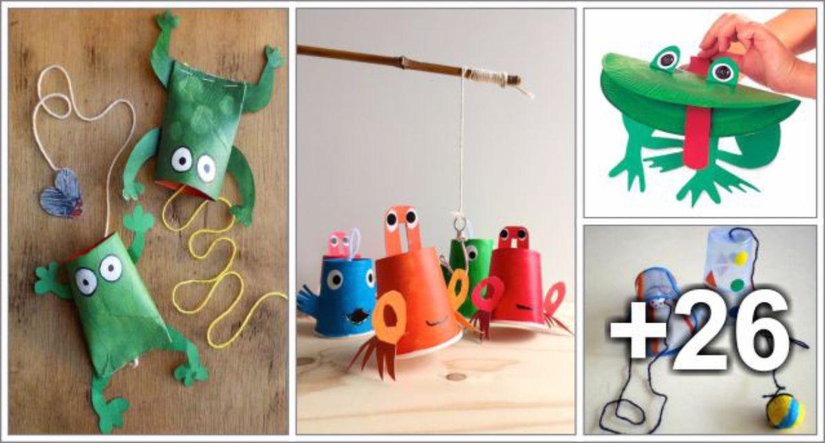 30 Ideias de brinquedos com reciclados