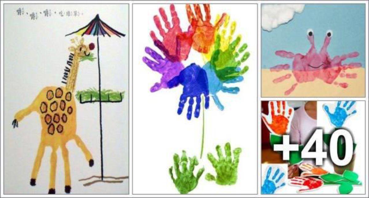 44 ideias de atividades com mãos e pés - Parte 1